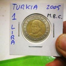 Monedas antiguas de Europa: MONEDA TURKIA 1 LIRA 2005 M.B.C.. Lote 171200290