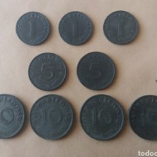 Monedas antiguas de Europa: ALEMANIA. EPOCA NAZI. II GUERRA MUNDIAL. LOTE 9 MONEDAS DISTINTO VALOR Y AÑOS.. Lote 171238319