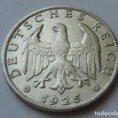 Monedas antiguas de Europa: ESCASA MONEDA DE PLATA DE 1 MARCO ALEMANIA 1925 WEIMAR, CECA G DE KARLSRUGE, 1 REICHSMARK. Lote 171264342