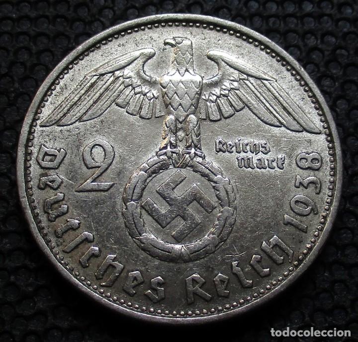 ALEMANIA - III REICH 2 REICHSMARK 1938-B (VIENA) -PLATA- (Numismática - Extranjeras - Europa)