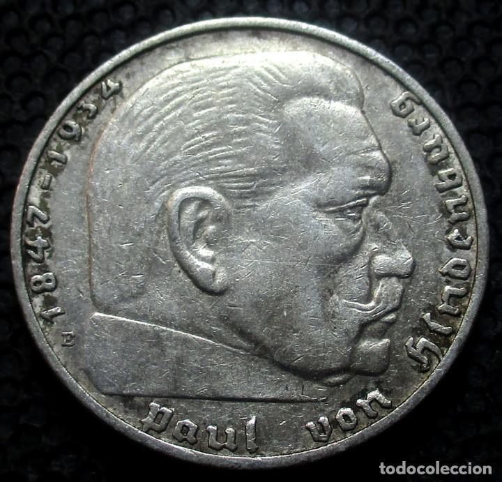 Monedas antiguas de Europa: ALEMANIA - III REICH 2 REICHSMARK 1937-E (DRESDEN) -PLATA- - Foto 2 - 171328928