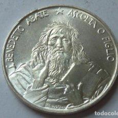 Monedas antiguas de Europa: MONEDA DE PLATA DE 1000 LIRAS DE SAN MARINO DE 1980, NACIMIENTO SAN BENEDICTO, SOLO 125.000, ESCASA. Lote 171341655