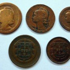Monedas antiguas de Europa: PORTUGAL. SERIE DE MONEDAS.KM,S DIFERENTES. Lote 171508819