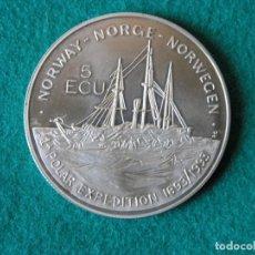 Monedas antiguas de Europa: MONEDA 5 ECU - NORUEGA - 1993 - CUPRONÍQUEL - PROOF. Lote 171522033
