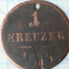 Monedas antiguas de Europa: 1 KREUZER 1851. Lote 171537519