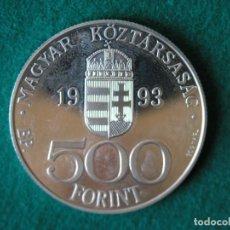 Monedas antiguas de Europa: MONEDA 500 FORINT / ECU - HUNGRÍA - 1993 - PLATA 925 - PROOF. Lote 171540928