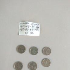 Monedas antiguas de Europa: NORUEGA 10 ORE 8 MONEDAS. Lote 171626743