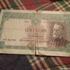 Monedas antiguas de Europa: BILLETE 100 ESCUDOS PORTUGAL 1947.. Lote 171698885