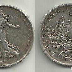 Monedas antiguas de Europa: FRANCIA 5 FRANCOS 1962 - PLATA . Lote 171731618
