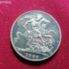 Monedas antiguas de Europa: REINO UNIDO. CORONA DE PLATA DE 1896. Lote 171762053