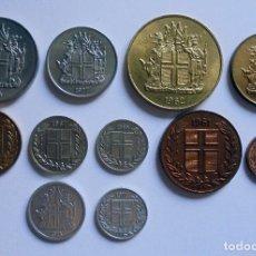 Monedas antiguas de Europa: ISLANDIA.SERIE DE MONEDAS MISMA EPOCA.KM,S DIFERENTES. Lote 171768669