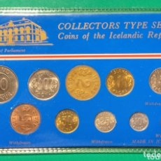 Monedas antiguas de Europa: ISLANDIA. 10 MONEDAS DEL 1946 AL 1977. SC.. Lote 172186800