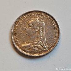 Monedas antiguas de Europa: GRAN BRETAÑA MONEDA DE PLATA 1887 VICTORIA PENCE. Lote 178192652