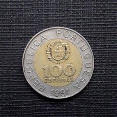 Monedas antiguas de Europa: PORTUGAL 100 ESCUDOS 1991 KM645.1. Lote 172311333