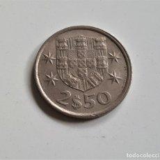 Monedas antiguas de Europa: PORTUGAL 2,50 ESCUDOS 1980. Lote 172346572