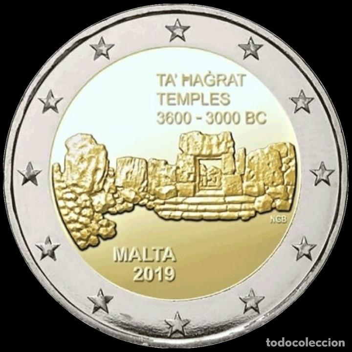 MALTA 2 EURO 2019 TEMPLOS DE TA' ?A?RAT 3600 - 3000 A.C. SIN CIRCULAR (Numismática - Extranjeras - Europa)