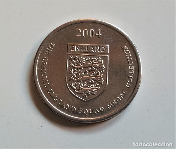 GARY NEVILLE INGLATERRA ESCUADRÓN MONEDA PARA LA COPA EUROPEA DE FÚTBOL 2004 (Numismática - Extranjeras - Europa)