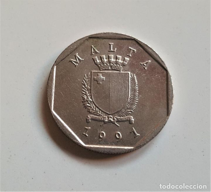 Monedas antiguas de Europa: 5 CENTIMOS 1991 MALTA - Foto 2 - 172582014