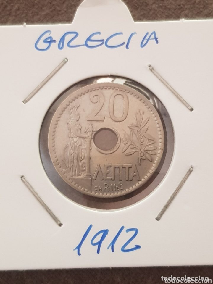 GRECIA 20 LEPTA 1912 (Numismática - Extranjeras - Europa)