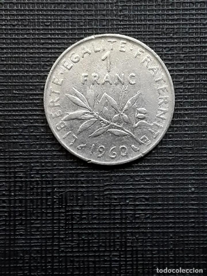 FRANCIA 1 FRANC 1960 KM925.1 (Numismática - Extranjeras - Europa)