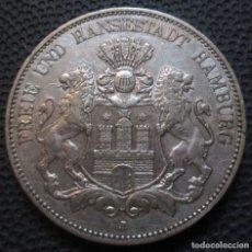 Monedas antiguas de Europa: ALEMANIA - HAMBURGO 5 MARCOS 1902-J -PLATA-. Lote 164155614