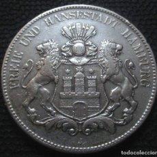Monedas antiguas de Europa: ALEMANIA - HAMBURGO 5 MARCOS 1904-J -PLATA-. Lote 173477067