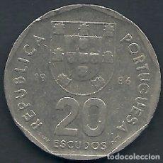 Monedas antiguas de Europa: PORTUGL - 20 ESCUDOS 1986 - MBC - TAMBIÉN MIRE MIS OTRAS SUBASTAS. Lote 173477608