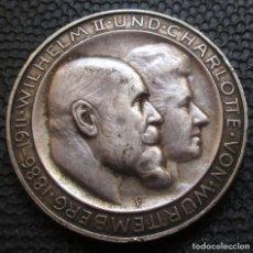 Monedas antiguas de Europa: ALEMANIA - WURTTEMBERG 3 MARCOS 1911-F (STTUTGART) ANIVERSARIO BODAS DE PLATA -PLATA-. Lote 154203214