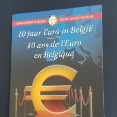 Monedas antiguas de Europa: CARTERITA 2 EUROS BÉLGICA 2012 10º ANIV.. Lote 173589153
