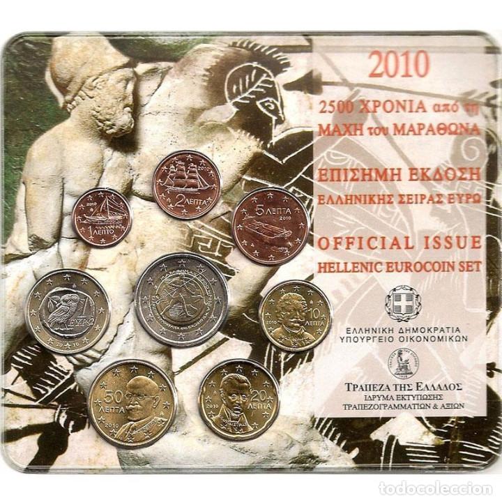 CARTERA OFICIAL GRECIA 2010 MARATHON (Numismática - Extranjeras - Europa)