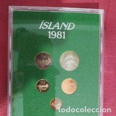 Monedas antiguas de Europa: BLISTER ISLANDIA 1981 RARO. Lote 173796029