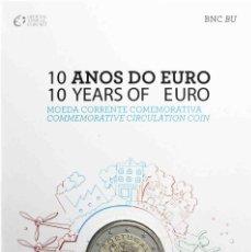 Monedas antiguas de Europa: 2 EURO PORTUGAL 2012 PRESENTACION OFICIAL SC 10º ANIVERSARIO. Lote 173796335