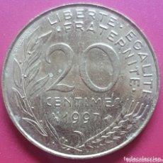 Monedas antiguas de Europa: FRANCIA 20 CENTIMOS 1997 - ENVIÓ GRATIS A PARTIR DE 35€. Lote 173821924