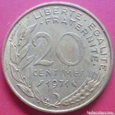 Monedas antiguas de Europa: FRANCIA 20 CENTIMOS 1971 - ENVIÓ GRATIS A PARTIR DE 35€. Lote 173821947