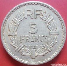 Monedas antiguas de Europa: FRANCIA 5 FRANCOS 1947 - ENVIÓ GRATIS A PARTIR DE 35€. Lote 173822063