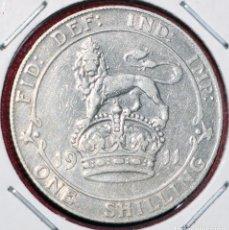 Monedas antiguas de Europa: 1 SHILLING 1911 PLATA INGLATERRA SILVER. Lote 173885148