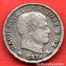 Monedas antiguas de Europa: ITALIA - 5 SOLDI DE PLATA - NAPOLEON EMPERADOR - 1814 M - RARA. Lote 173927010