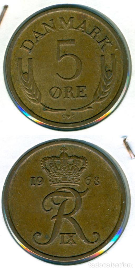 DINAMARCA 5 ÖRE 1968 ( EBC- ) KM # 848.1 - BRONCE - FREDERIK IX (Numismática - Extranjeras - Europa)