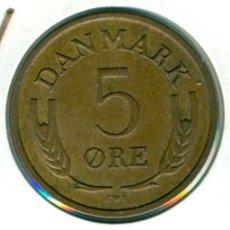 Monedas antiguas de Europa: DINAMARCA 5 ÖRE 1968 ( EBC- ) KM # 848.1 - BRONCE - FREDERIK IX. Lote 173946853