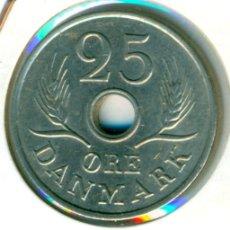 Monedas antiguas de Europa: DINAMARCA 25 ÖRE 1972 ( MBC+ ) KM # 855.2 - FREDERIK IX. Lote 173946919