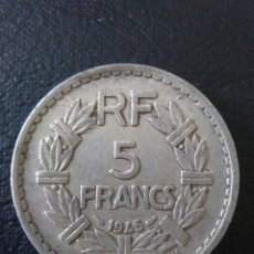 Monedas antiguas de Europa: 5 FRANCS, 1945, REPUBLICA FRANCESA. Lote 174020803