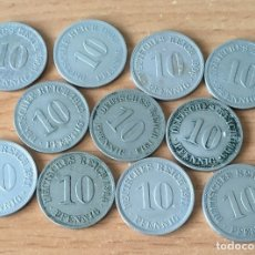 Monedas antiguas de Europa: INTERESANTE LOTE DE 11 MONEDAS DIFERENTES DE ALEMANIA DE 10 PFENNIG. Lote 174222283