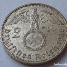 Monedas antiguas de Europa: MONEDA DE PLATA 2 MARCOS 1939 CECA A DE BERLIN, ALEMANIA NAZI, MARISCAL PAUL VON HINDENBURG. Lote 174590805