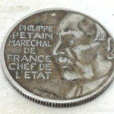 Monedas antiguas de Europa: RÉPLICA PRUEBA. MONEDA 10 FRANCOS. 1941. MARISCAL PETAIN. ESTADO FRANCÉS, FRANCIA, VICHY. II GUERRA . Lote 174967384