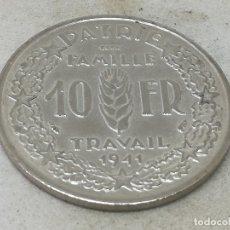 Monedas antiguas de Europa: RÉPLICA PRUEBA. MONEDA 10 FRANCOS. 1941. MARISCAL PETAIN. ESTADO FRANCÉS, FRANCIA, VICHY. II GUERRA . Lote 174967783