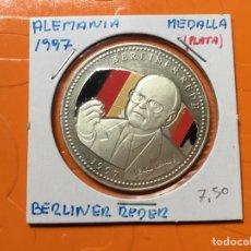 Monedas antiguas de Europa: 583 )ALEMANIA,,MEDALLA,,1997,,BERLINER REDER,,PLATA,, EN ESTADO NUEVO SIN CIRCULAR. Lote 123138252