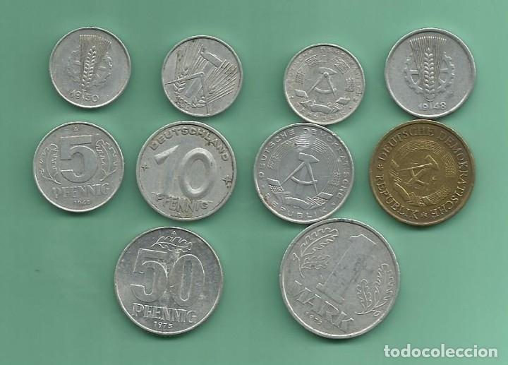 ALEMANIA-DDR 10 MONEDAS DE 10 MODELOS DIFERENTES (Numismática - Extranjeras - Europa)