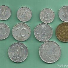 Monedas antiguas de Europa: ALEMANIA-DDR 10 MONEDAS DE 10 MODELOS DIFERENTES. Lote 175131560