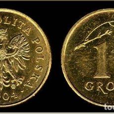 Monedas antiguas de Europa: POLONIA 1 GROSZ 2004 BOLSA CON 5 MONEDAS. Lote 175152554