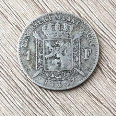 Monedas antiguas de Europa: 1 FRANCO DE BELGICA DE PLATA DE 1887. Lote 175337722